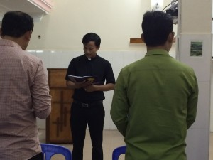 Reading of the gospel message