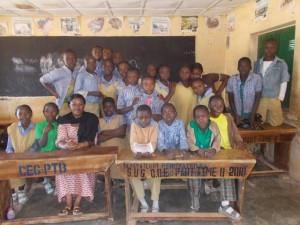 Christiana and her students after a successful Academic year 2013