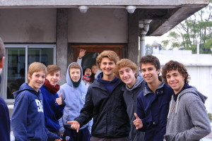 Some boys that attend the school supported by the church.