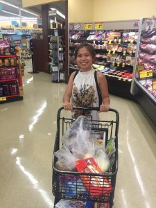 Viya really enjoyed American grocery stores.