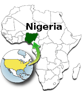 Nigeria locator map