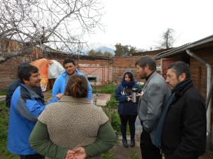 Behind this group of church members is where Casa Betesda is being built...
