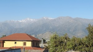 """Looking towards """"the cordillera"""" - the Andes mountains from the top of Casa Betesda."""